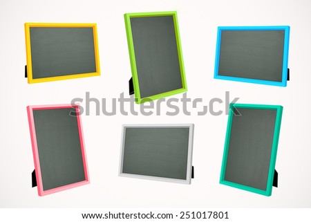 Color picture frame on isolated background. Square photo frame isolated. Square picture frame isolated. Square image frame isolated. Stand picture frame isolated. Stand picture frame isolated. - stock photo
