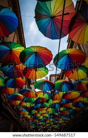 Color Picture Colorful Umbrella Roof Between Stock Photo 549687517 . & umbrella roof - Roof memphite.com