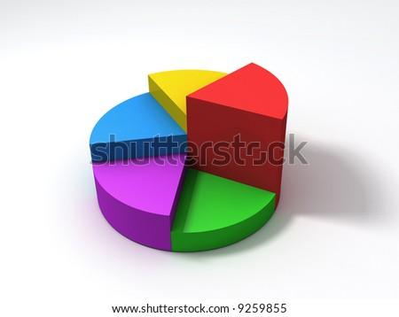color pie diagram - stock photo