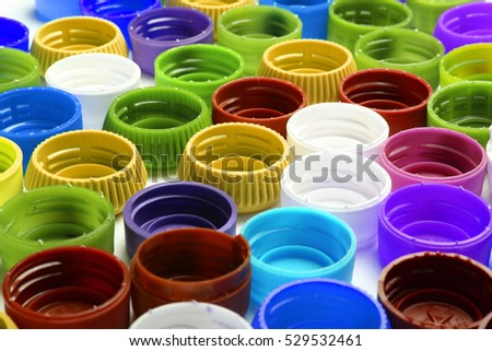 color plastic background with green red yellow and blue