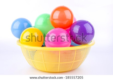 color plastic balls. - stock photo