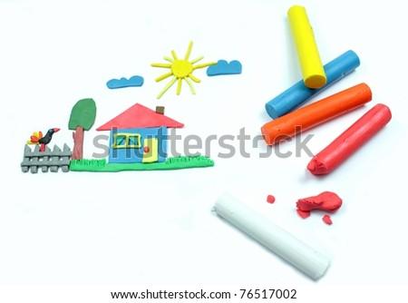 Color plasticine - stock photo