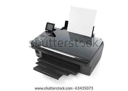 Color Printer - stock photo