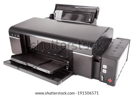 Color Printer. Isolated - stock photo