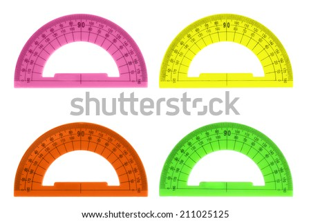 color protractor - stock photo