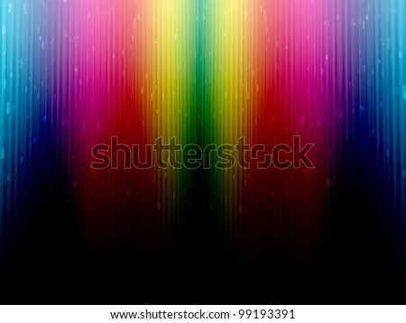 Color rainbow background. Colorful abstract curtains with small glow lights. - stock photo