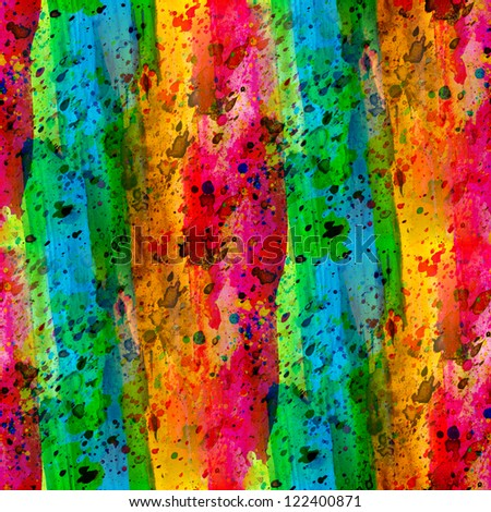 color rainbow seamless background abstract watercolor design ink - stock photo