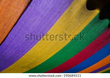 color rainbow tent under sun