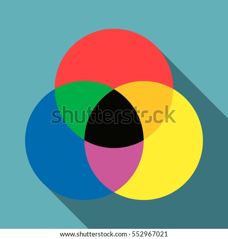 Color range spectrum circle round palette icon. Flat illustration of color range spectrum circle round palette  icon for web isolated on baby blue background