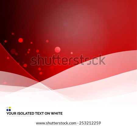Color red and light, waves and lines. Abstract background - stock photo