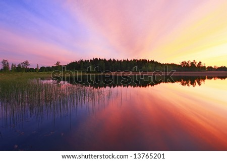 Color reflection - stock photo