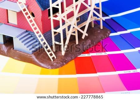 color renovation - stock photo