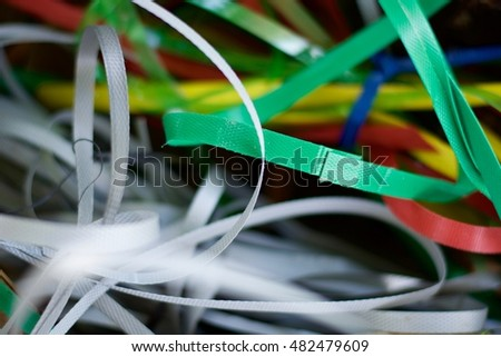 color ropes ribbon.