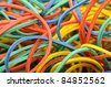 Color rubber band - stock photo