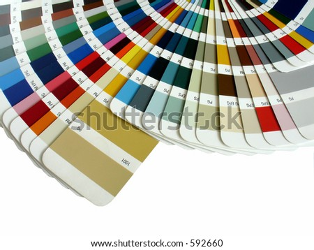 color sampler - stock photo