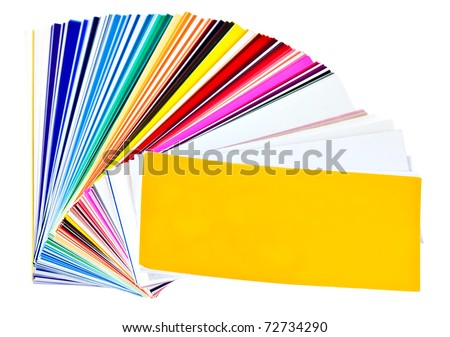 Color samples  isolated on a white background