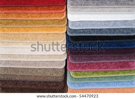 Color samples of carpet - stock photo