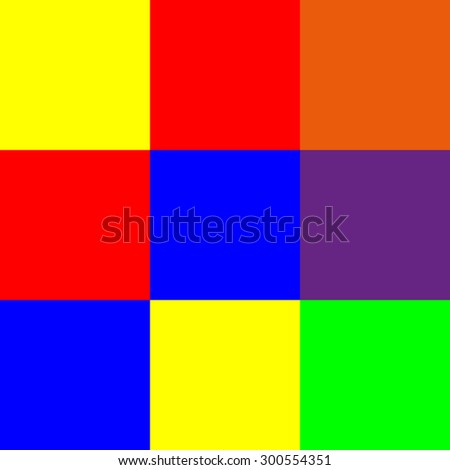 Color Scheme Of Primary And Secondary Colors