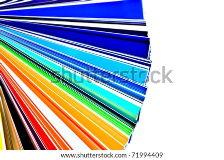Color selection swatchbook isolated on white - stock photo