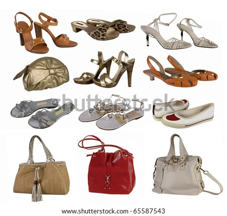 color shoesand bag collection