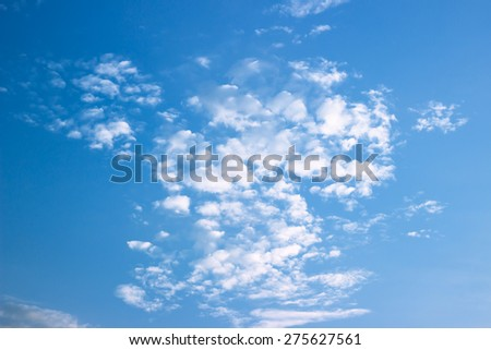 Color sky with clouds, background.The vast blue sky and clouds sky or background. - stock photo