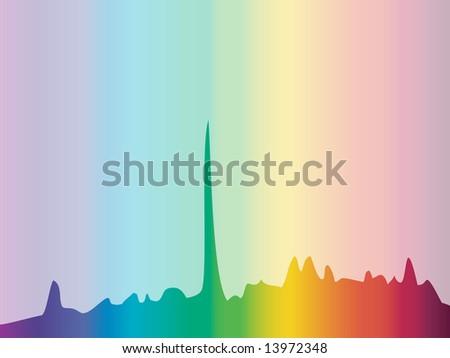 Color spectrum diagram background - stock photo