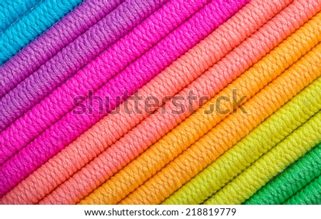 Color Spectrum Of Shoelaces - stock photo