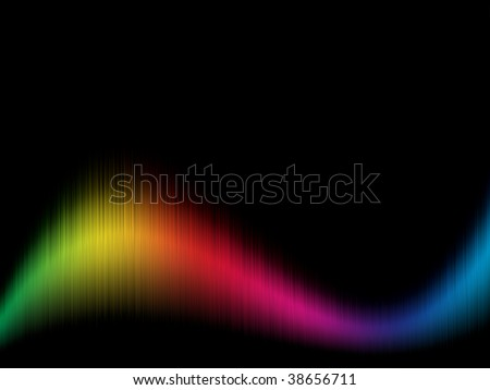 Color spectrum wavy background with black copy space.