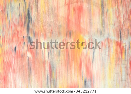 Color splash  painting on wall. - stock photo