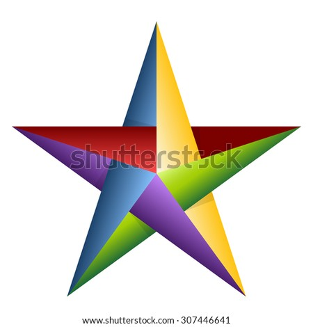 Color Star - stock photo