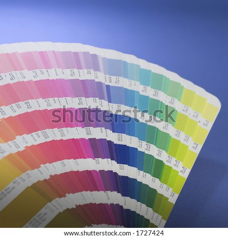 Color swatch book. - stock photo