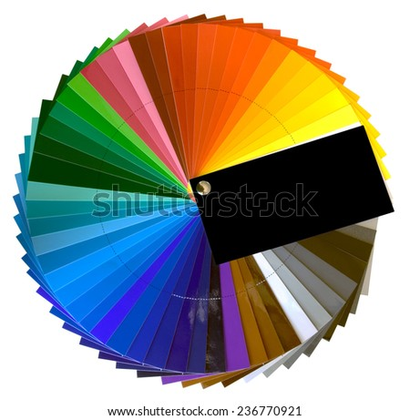Color Swatch Isolated with Clipping Path - stock photo
