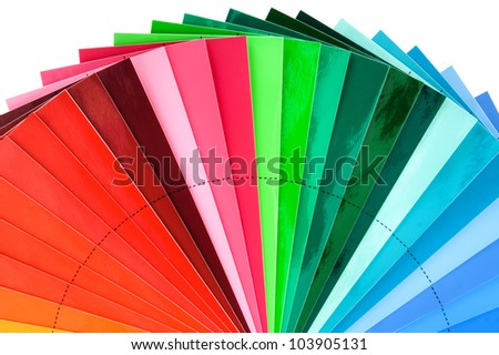 Color Swatch Palette for Printing Industry Isolated with Clipping Path - stock photo
