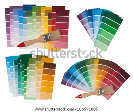 Color swatches isolated on white background - stock photo