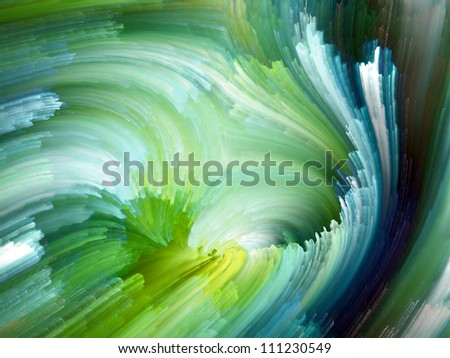 Color Swirls Series. Abstract design made of streaks of digital paint on the subject of art, design and creativity - stock photo
