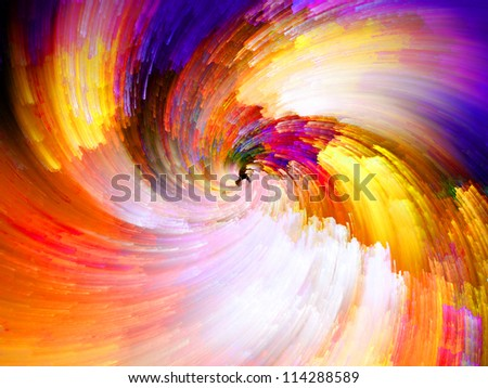 Color Swirls Series. Arrangement of streaks of digital paint on the subject of art, design and creativity