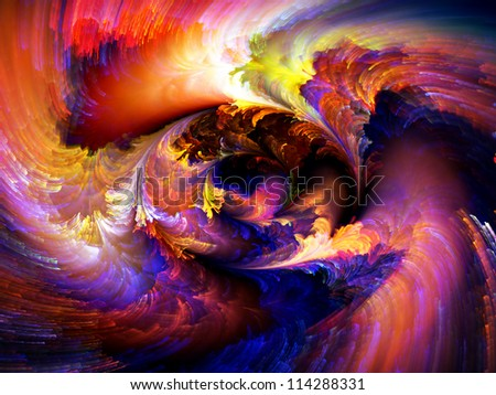 Color Swirls Series. Background design of streaks of digital paint on the subject of art, design and creativity