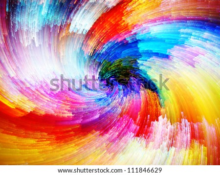 Color Swirls Series. Creative arrangement of streaks of digital paint to act as complimentary graphic for subject of art, design and creativity