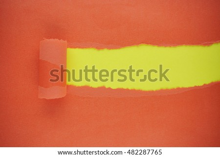 Color Tear paper on Color abstract background