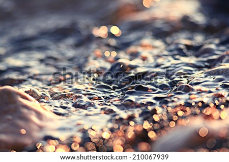 color texture water pebble beach - stock photo