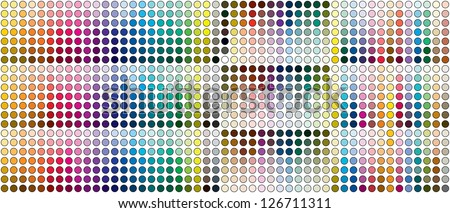 color tones dynamic transformations - stock photo