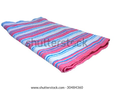 color towel isolated on white background - stock photo