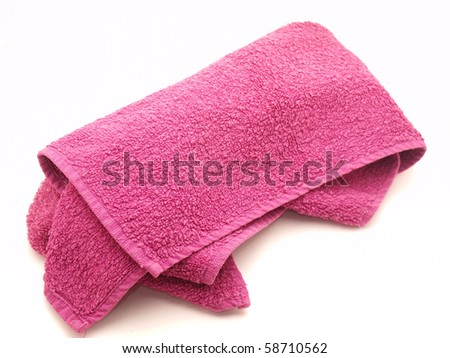 Color towels on a white background