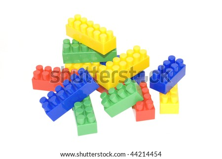 color toy constructor, insulated on white background