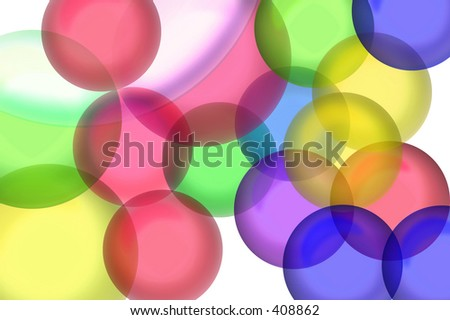 Color transparent ball shapes.