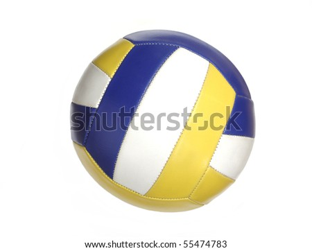 Color volleyball ball