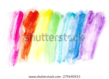 Color Water Drawing - stock photo