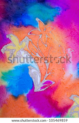 Color watercolors on paper - stock photo