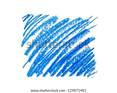 Color wax pencils background. - stock photo