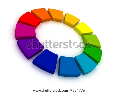 Color Wheel 3D. - stock photo